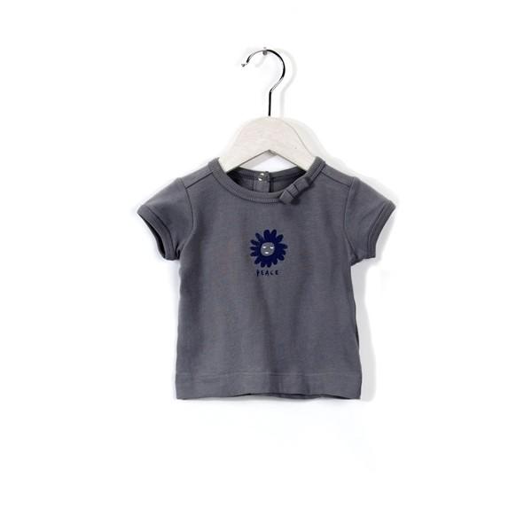 T-Shirt mit Schriftzug Peace Special Grey