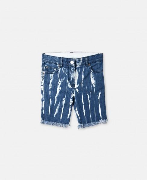 Batik-Denimshorts Kennedy Blue