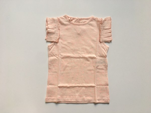 T-Shirt aus melierter Baumwolle Apricot