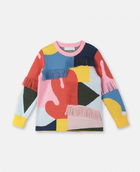 Pullover mit Fransen Bunt