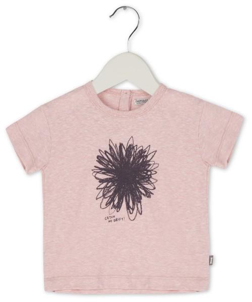 T-Shirt mit Blumendruck Rosa