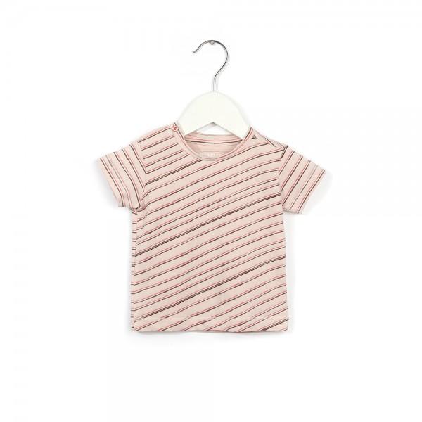 T-Shirt mit schrägen Streifen Wiebelstreep