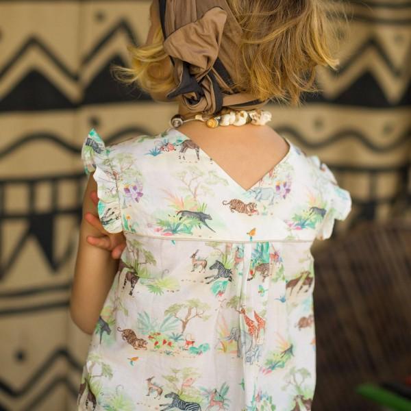 Tunika mit Afrikaprint Farbe Bunt