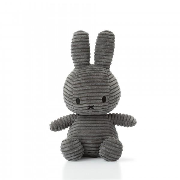 Miffy Sitting Corduroy 23cm Grau