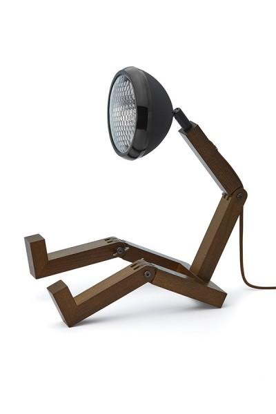 Mr. Wattson Original Table Lamp Dark Ash All Matt Black