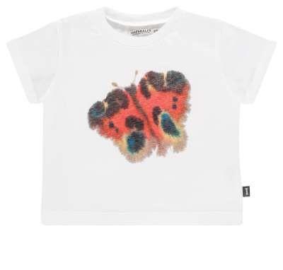 T-Shirt mit Schmetterlingmotiv von Van Mierlo Weiss