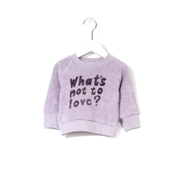 "Sweatshirt bedruckt ""What´s not to love"" PURPLE MELANGE"
