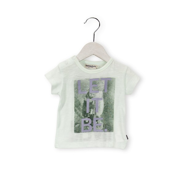 "T-Shirt mit Druck ""LET IT BE."" Precious Green"