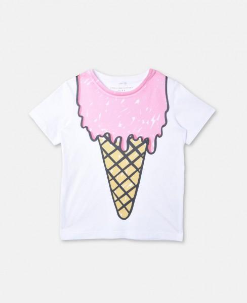 T-Shirt Arlow mit Eiscremeprint Weiss