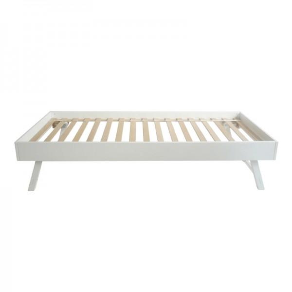 Jump-up Bett, 80x190cm Farbe: weiss