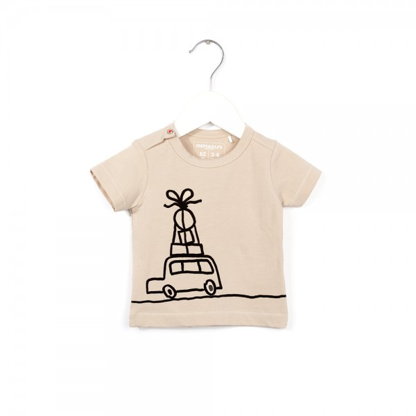 T-Shirt mit Busmotiv Cream