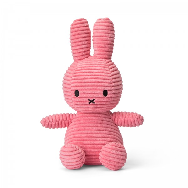 Miffy Sitting Corduroy 23cm Bubblegum Pink