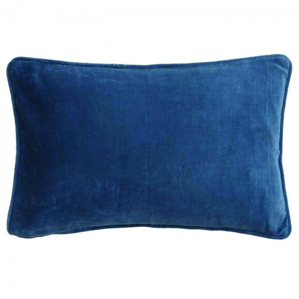BUNGALOW DENMARK Samtkissen Blue China 33x50cm inkl. Füllung