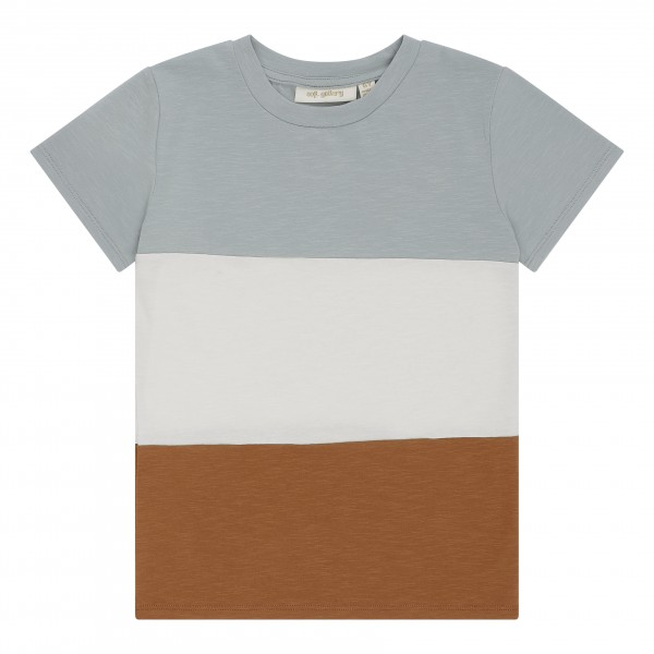 Soft Gallery T-Shirt Bass Blockstreifen Abyss