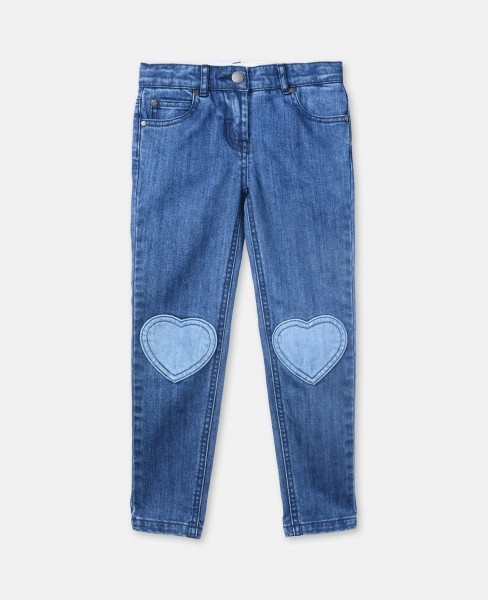 Jeans Heart mit Herzaufnäher