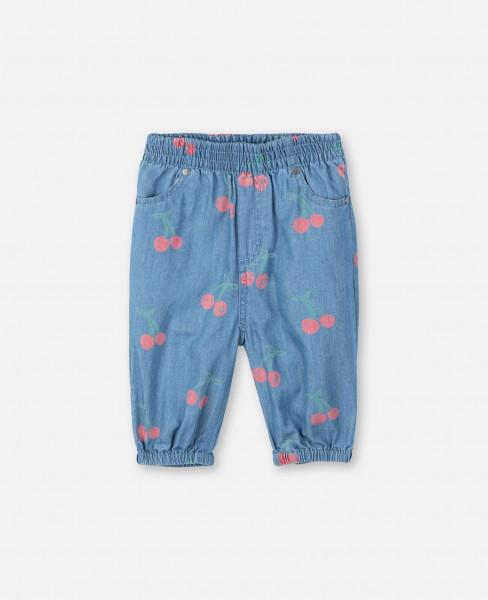 Hose mit Kirschenprint Blau