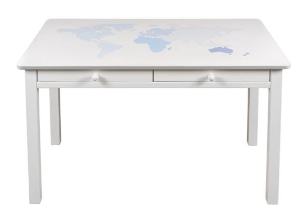Schreibtisch bemalt Weltkarte