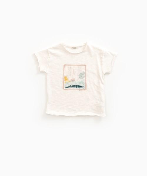 T-Shirt aus Bio-Baumwolle mit Druck Pearl