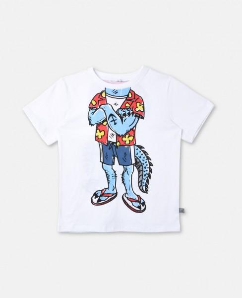 T-Shirt Arlo mit Mutanten-Print Weiss