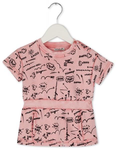 Sweatshirtkleid mit Comicdruck Pink