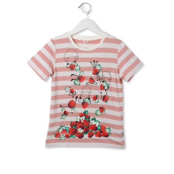 T-Shirt Arlo gestreift mit Erdbeerprint