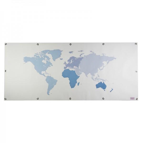 Hintergrundbilder für das Spielbett, Motiv: Welt - blau