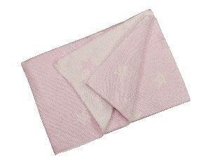 Solo tu! Babydecke mit Sternen - Farbe: rosa/creme
