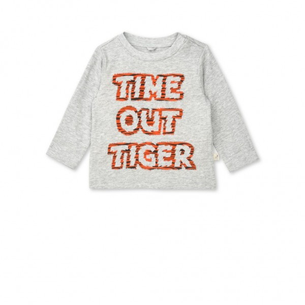 "Langarmshirt Georgie mit ""Time Out Tiger"" Print Grau"