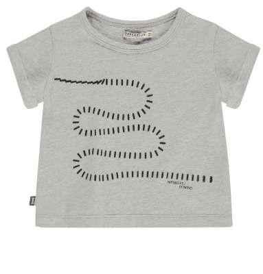 T-Shirt mit Dominoprint Grau