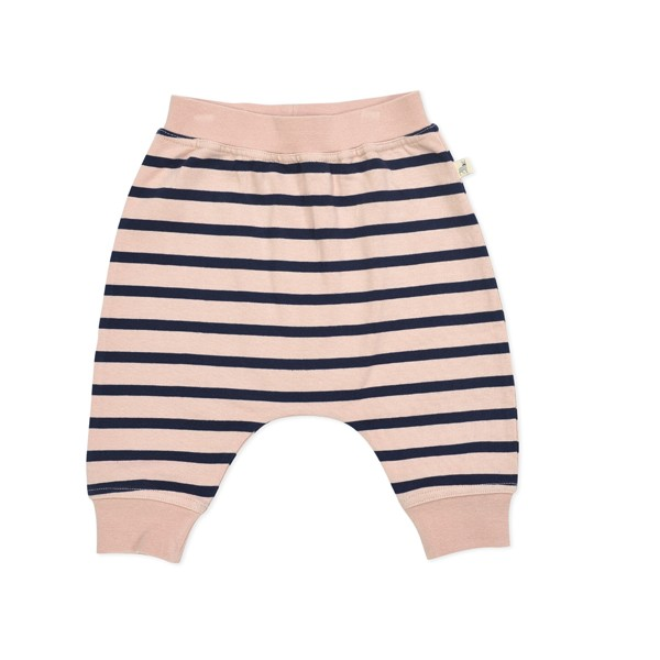Sweathose gestreift rosa-navy