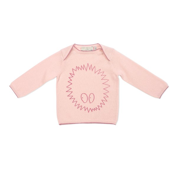 Pullover Horace mit Igelprint Rosa