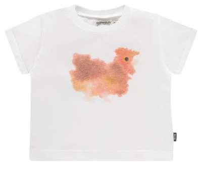 T-Shirt mit Huhnmotiv von Van Mierlo Weiss