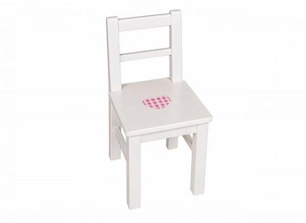 Kinderstuhl mit Lehne weiß oder bemalt