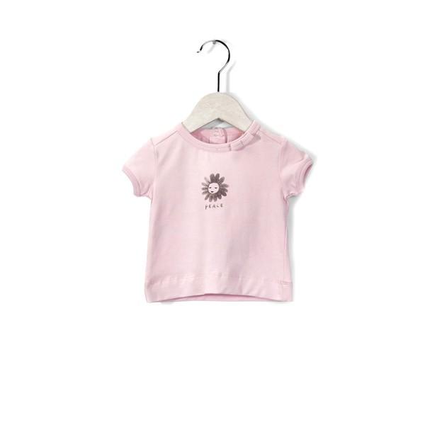 T-Shirt mit Schriftzug Peace Chrystal Pink