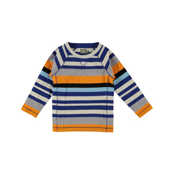 Langarmshirt Mikey bunt gestreift blau-orange