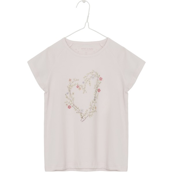 T-Shirt mit Herzprint Farbe Pink