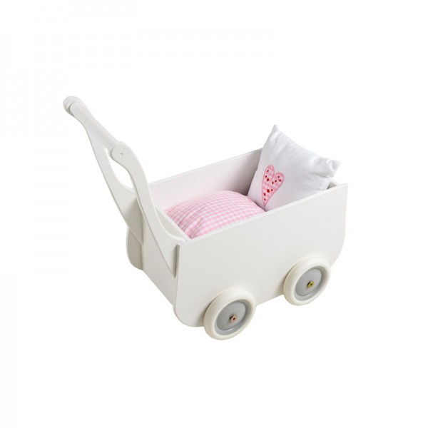 Puppenwagen inkl. Kissen Farbe: weiss