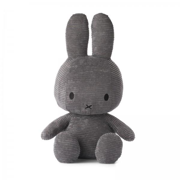 Miffy Sitting Corduroy 50cm Grey