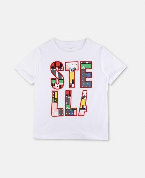 T-Shirt Lolly mit Stella Aufschrift Weiß