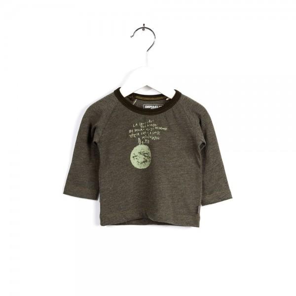 Langarmshirt mit Monddruck Mud Green