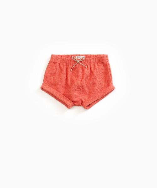 Shorts aus Baumwollfrottee Peach