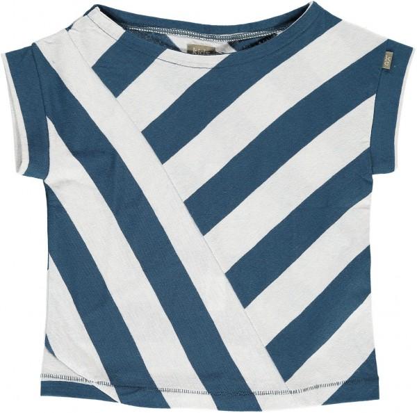 T-Shirt Sand Girls schräg gestreift dark blue/light blue