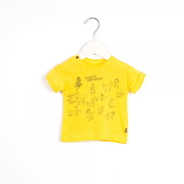 T-Shirt mit Animaldruck Yelly Yellow