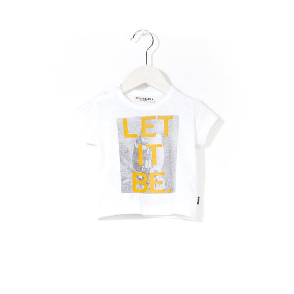 "T-Shirt mit Druck ""LET IT BE."" Free White"