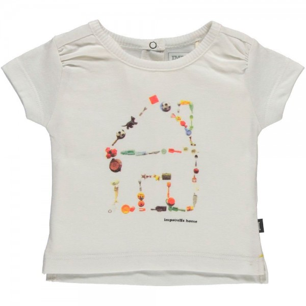 T-Shirt mit Hausdruck weiss