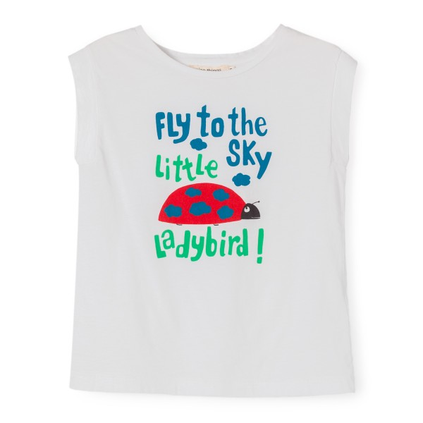 "Top mit Druck ""Fly to the sky little ladybird!"""